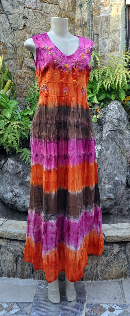 Vestido Indiano Purple Gradient