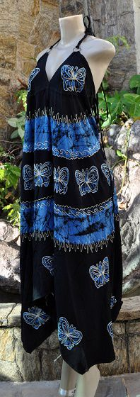 Vestido Indiano Olympic butterfly blue