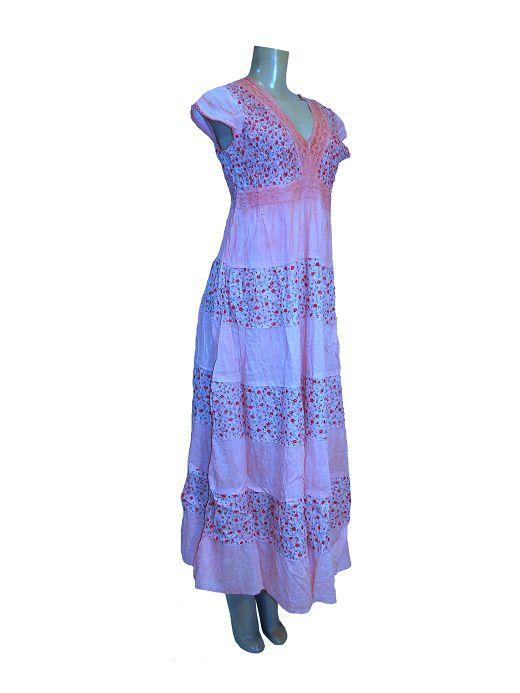 vestido indiano print floral