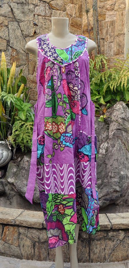 Vestido Indiano Purple Garden