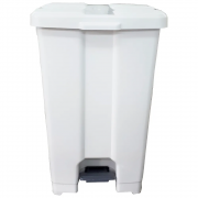 Cesto De Lixo  Lixeira Plástico Com Pedal 60 Litros P60 JSN Branca  - Lixeira