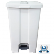 Cesto De Lixo  Lixeira Plástico Com Pedal 60 Litros P60 JSN Brancs  - Lixeira