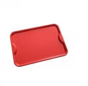 CÓPIA - 20 un + frete Bandeja Plastico Vermelha Grande Fast Food Self Service R400