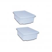 Kit 2 Caixa Plastica C/ Tampa Açougue 25l Camara Fria