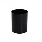Lixeira plástica Preta Escritorio12L sem tampa EB1 29cm Jsn