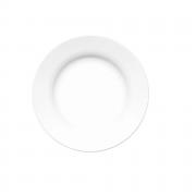 Prato Fundo Branco De Vidro Opaline Versi 23cm Nadir Caixa Com 12 unidades
