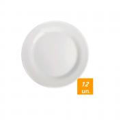 Prato Porcelana Raso Duralex Menu Nadir N5543 (cx12)
