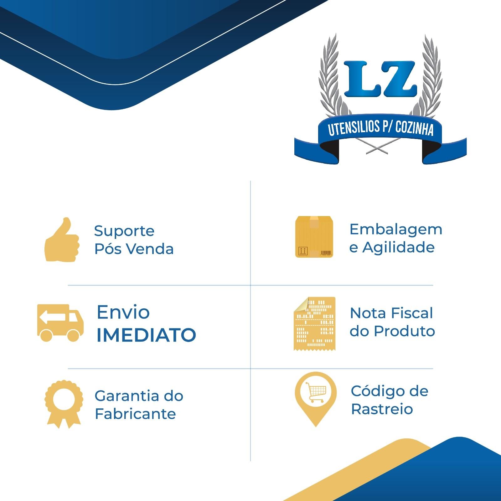 Saleiro Chapeiro Prof + Açucareiro Aço Inox Dosador Prof  - LZ COZINHA