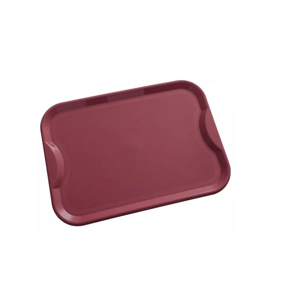 Bandeja Plastico Vermelha Grande Fast Food Self Service R400  - LZ COZINHA