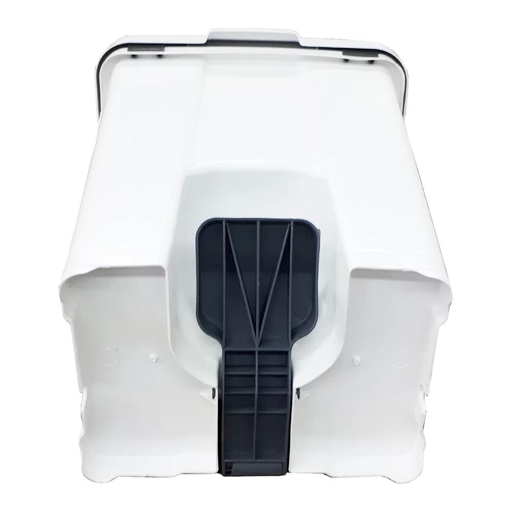 Cesto De Lixo  Lixeira Plástico Com Pedal 60 Litros P60 JSN Branca  - Lixeira  - LZ COZINHA