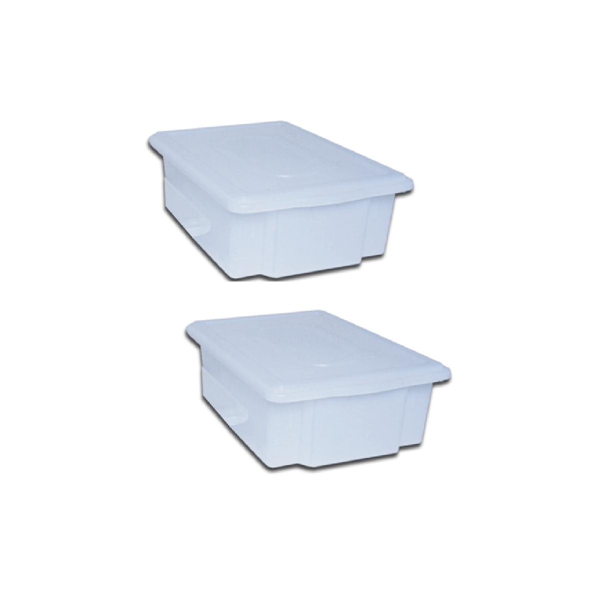 Kit 2 Caixa Plastica C/ Tampa Açougue 25l Camara Fria  - LZ COZINHA