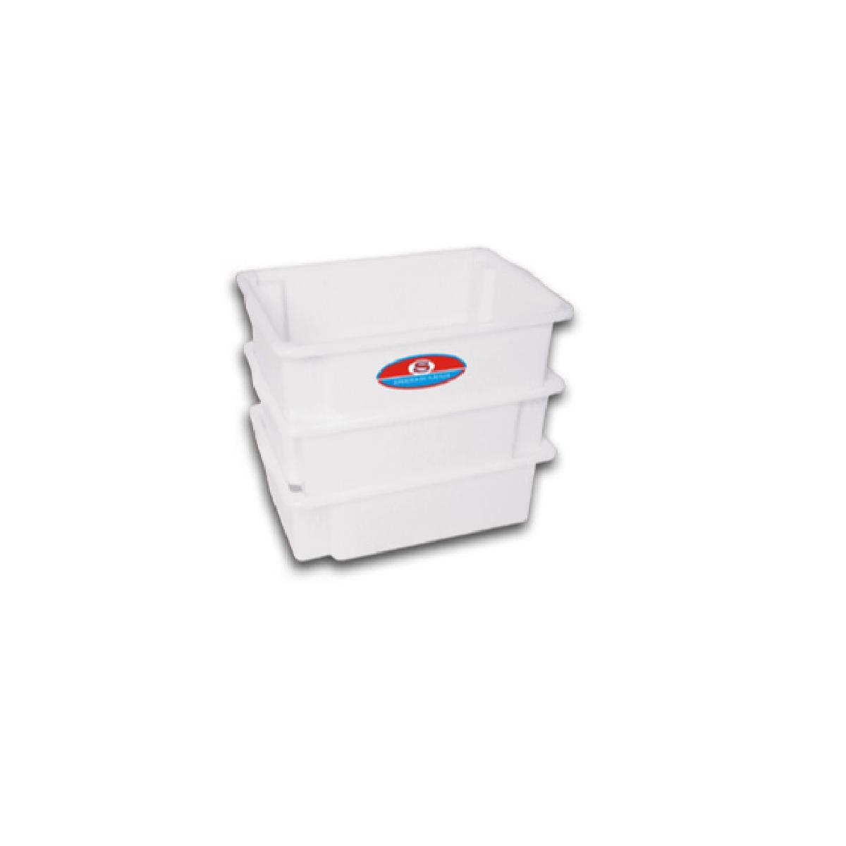 Kit 6 Caixa Plastica C/ Tampa Açougue 25l Camara Fria  - LZ COZINHA