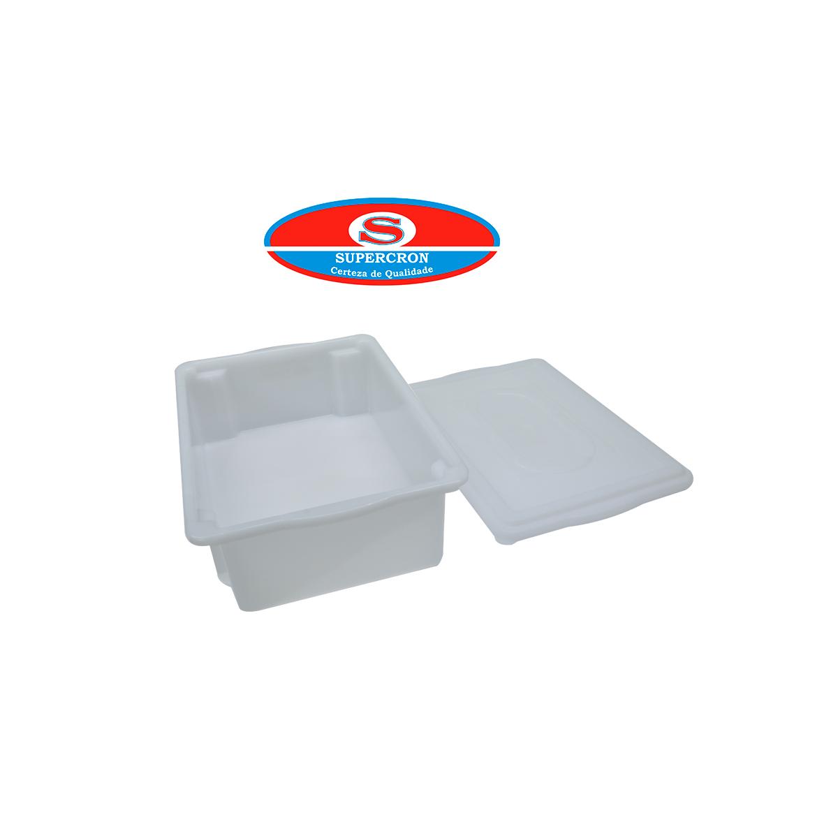 Kit 6 Un Caixa S/500 C/tpa 11l (41x29x12,5) - Empilhavel  - LZ COZINHA