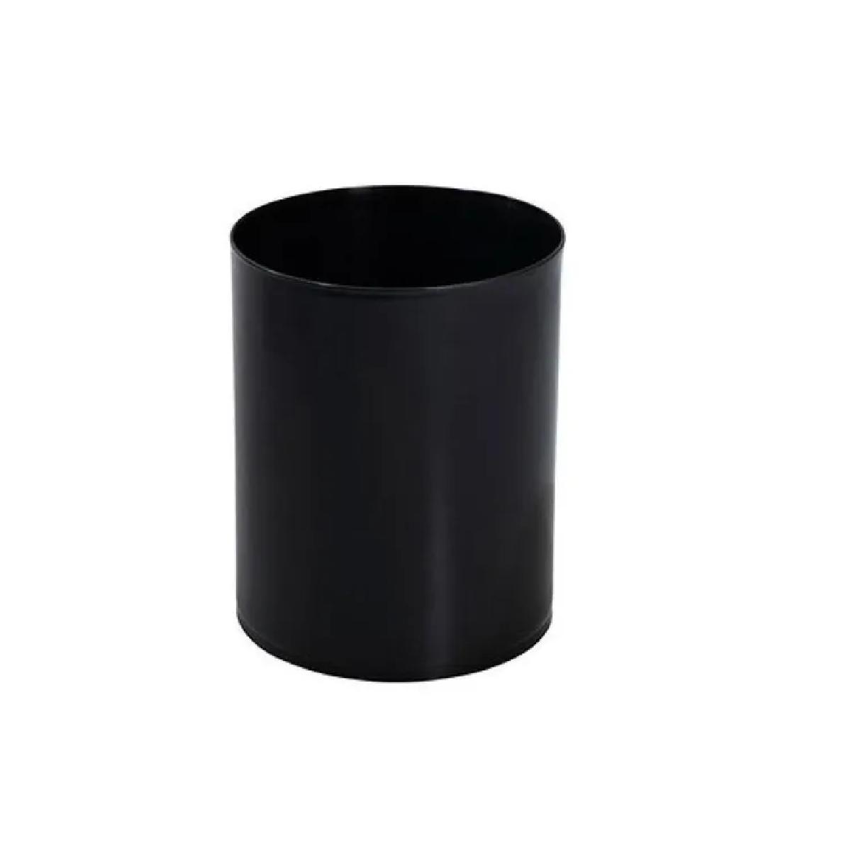 Lixeira plástica Preta Escritorio12L sem tampa EB1 29cm Jsn  - LZ COZINHA