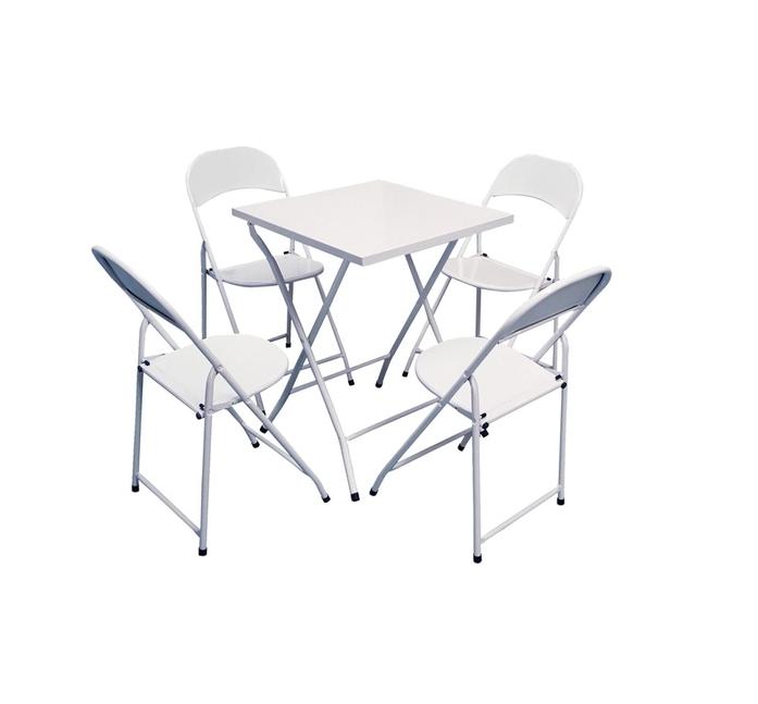 Mesa Bar E Cadeiras Conjunto 1 Mesa 4 Cadeiras 60x60  - LZ COZINHA