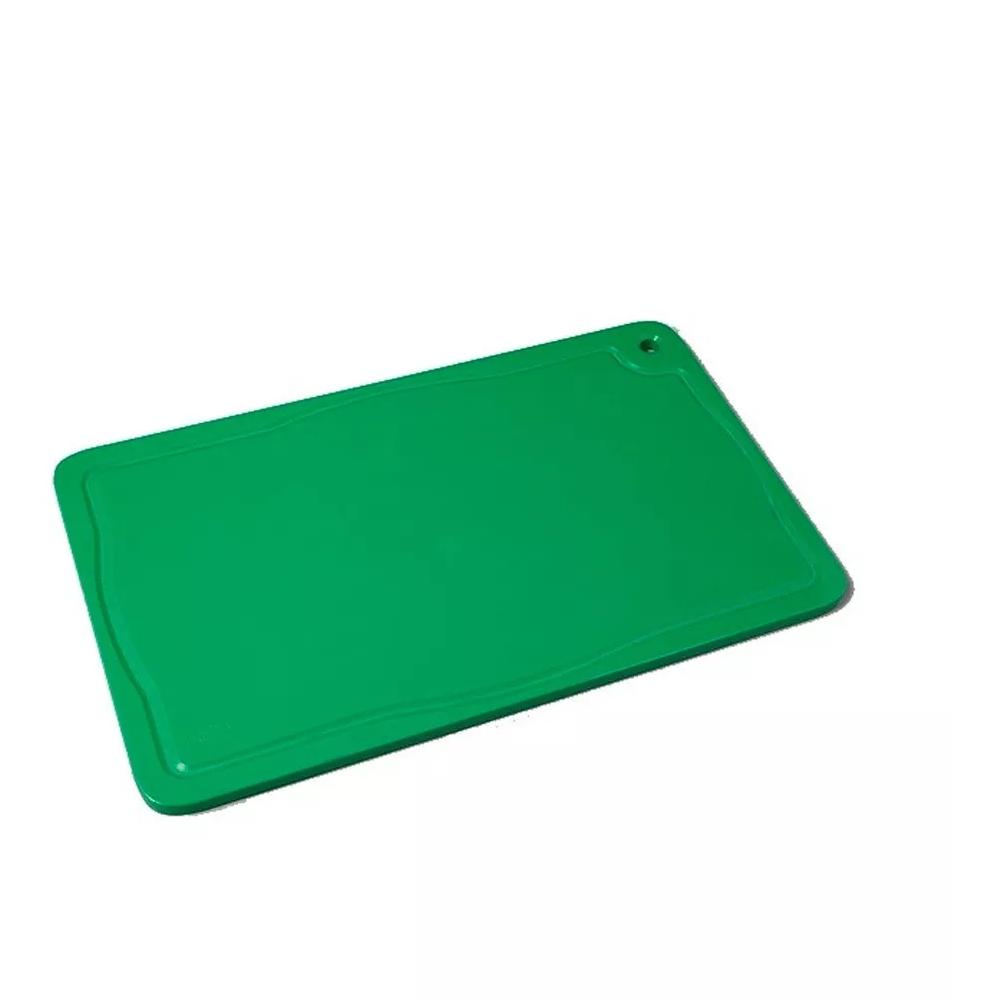 Placa De Corte C/ Canaleta 50x30x1,5 Verde Tabua Pronyl REF:121  - LZ COZINHA