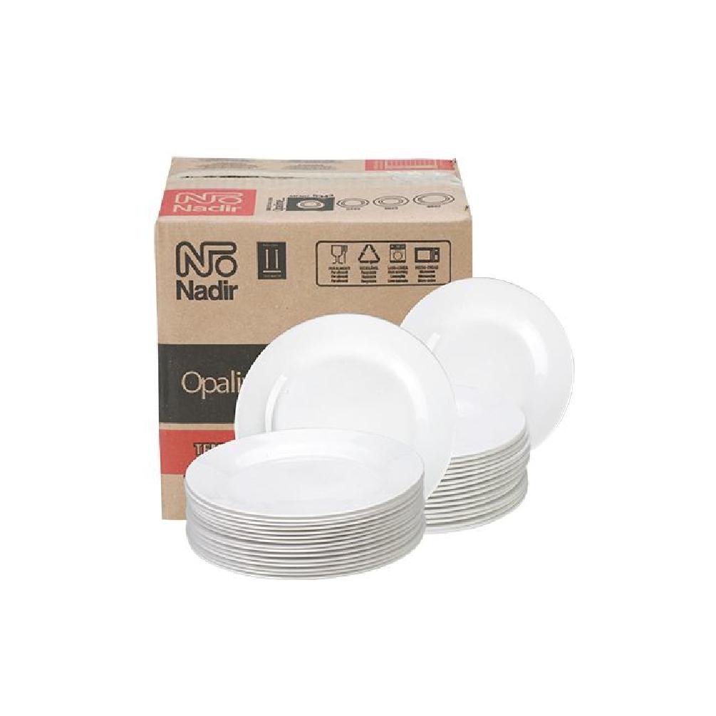 Prato Porcelana Raso Duralex Menu Nadir N5543 (cx12)  - LZ COZINHA