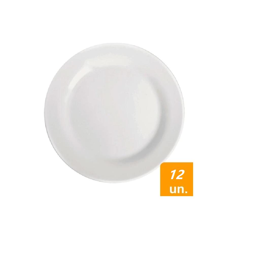 Prato Raso  MENU OPALINE 24cm/ REF.5743-12 unidades  - LZ COZINHA