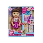 0432492b5 Boneca Baby Alive Hora de Comer Morena A8346 - Hasbro - Paraiso do ...