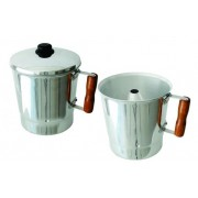 Fervedor,leiteira,polido c/ cabo de madeira N16 3.0lts Mazetto