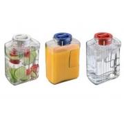Garrafa Ideal para Água ou Suco 1,5 Litros de Vidro Frizzy Tampa Resistente Jarra de Geladeira