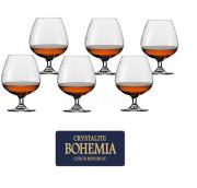 Jogo de Tacas de Cristal P/ Conhaque com 6 Unidades Gastro Bohemia 690 ML Western