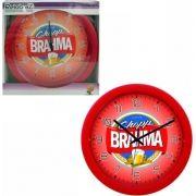 Relogio de Parede Redondo Vermelho Modelo Brahma 30Cm Relobraz