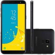 """Smartphone Samsung Galaxy J6, TV Digital HD, Memória 32GB, Memória RAM 2GB, Tela infinita de 5.6"""",Android 8.0 Câmera 13MP, Câmera frontal de 8MP com Flash, Dual Chip, Rede Wifi + 4G Preto"""