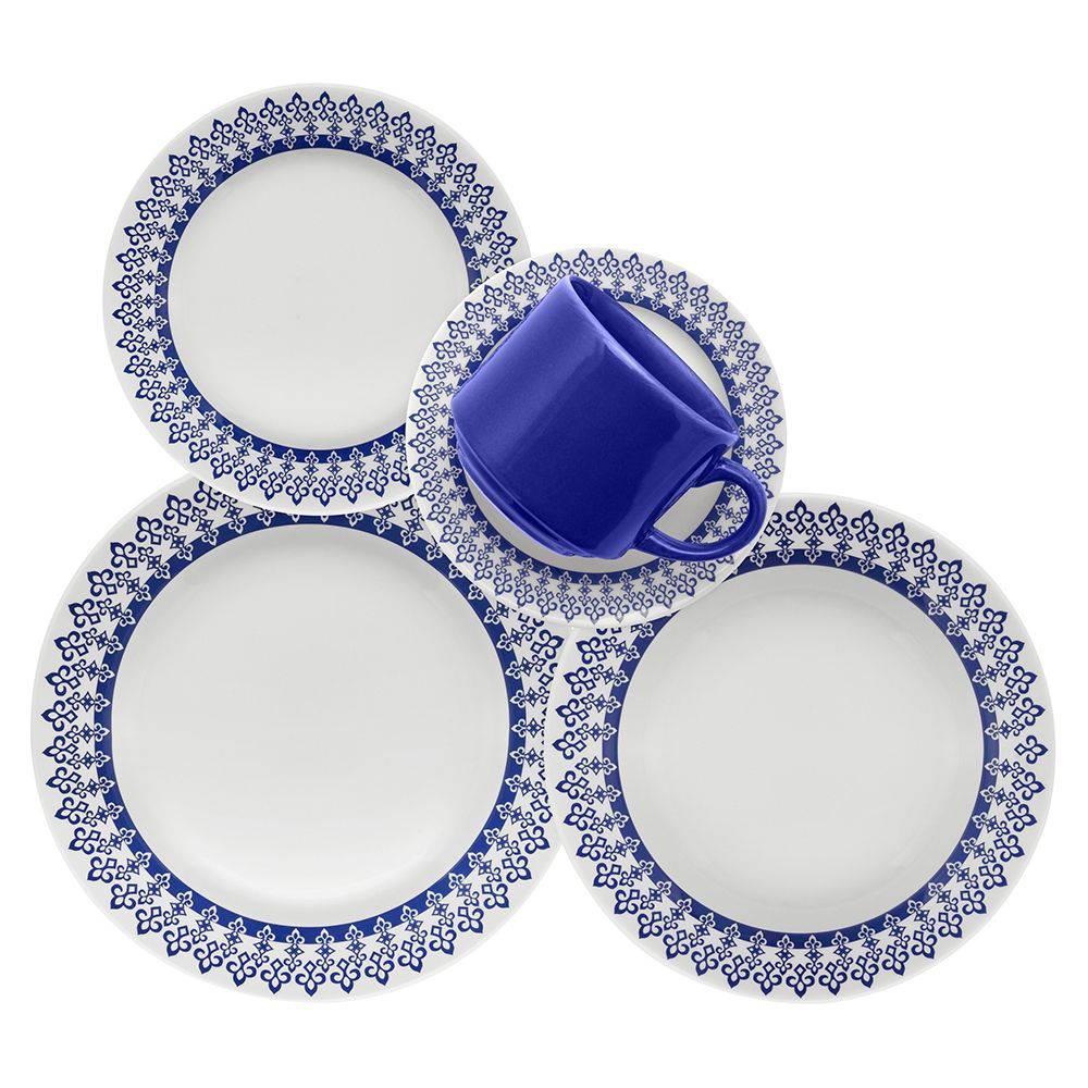 Aparelho de Jantar 20 pecas em Ceramica Donna Grecia - Oxford