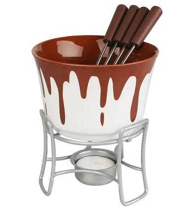 Aparelho para Fondue 6pcs em cerâmica Bruxelas Chocolate - Hauskraft