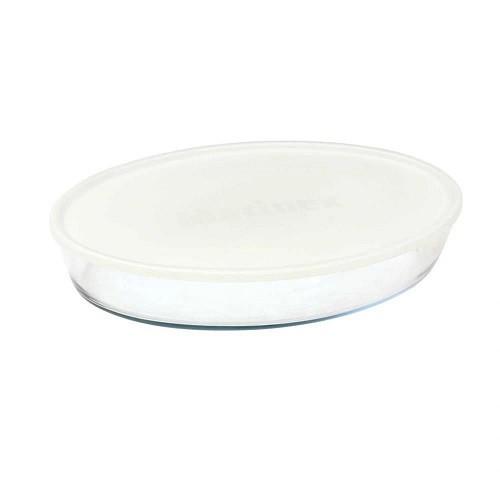 Assadeira Oval Média 3,2L c/ Tampa Plástica Marinex GD16662253N