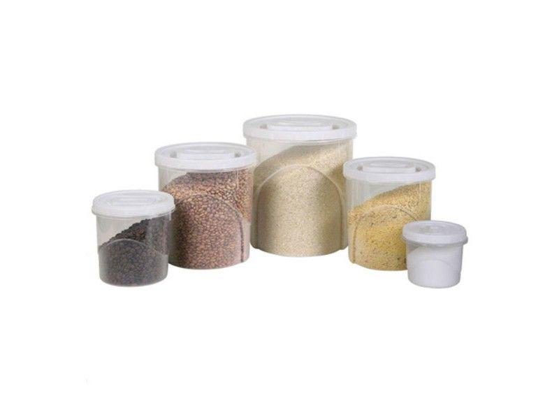 Conjunto de Potes Redondo de Plástico para Mantimentos C/5 Peças Plasutil