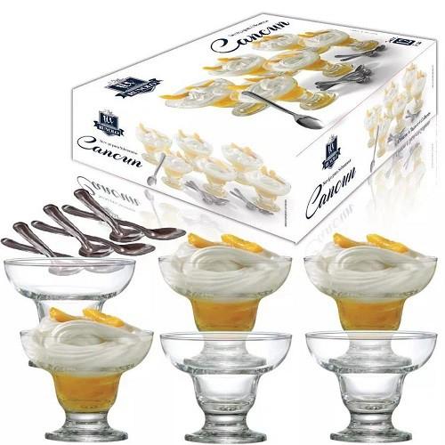 Conjunto Para Sobremesa Em Vidro 12 Peças New Cancum Ruvolo