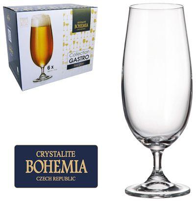 Jogo de Tacas de Cristal P/ Cerveja com 6 Unidades Gastro Bohemia 380 ML Western