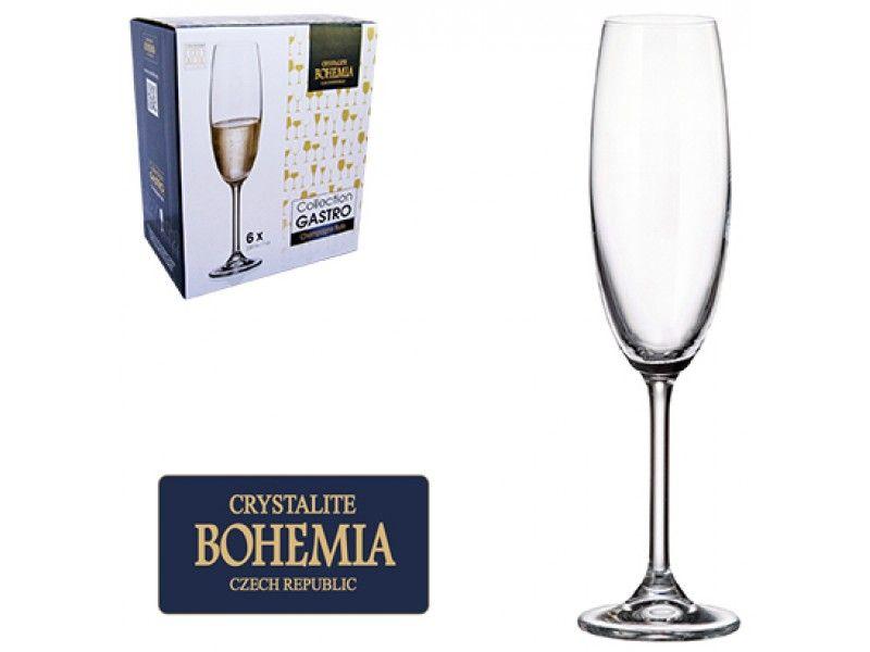 Jogo de Tacas de Cristal P/ Champanhe com 6 Unidades Gastro Bohemia 220 ML Western