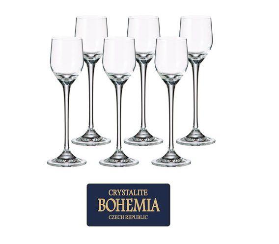 Jogo de Tacas de Cristal P/ Licor com 6 Unidades Gastro Bohemia 60 ML Western