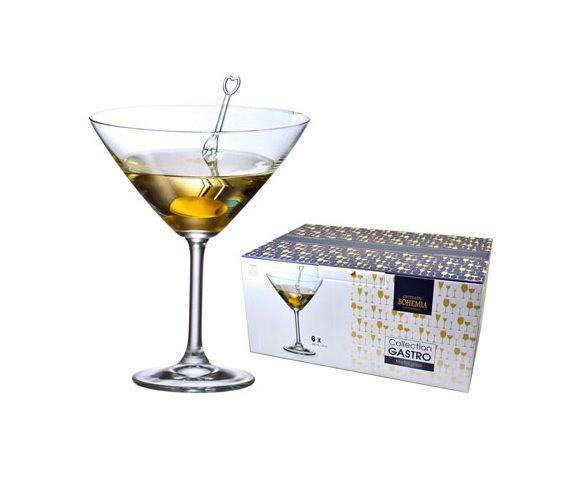 Jogo de Tacas de Cristal P/ Martini com 6 Unidades Gastro Bohemia 280 ML Western