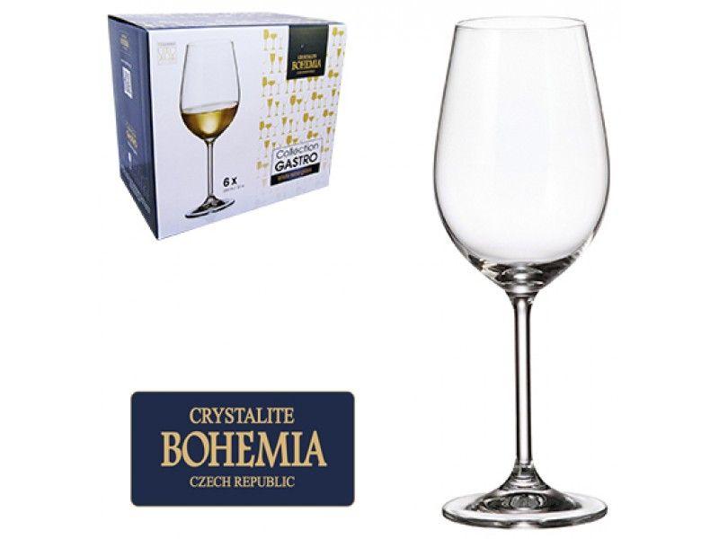 Jogo de Tacas de Cristal P/Vinho Branco C/6 unidades Gastro Bohemia 350ML Western
