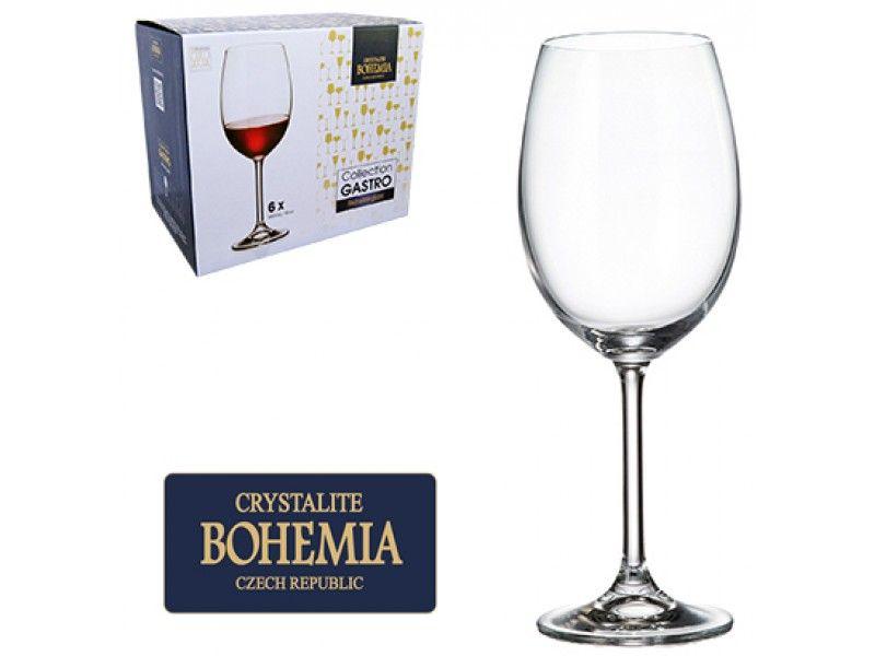 Jogo de Tacas de Cristal P/Vinho Tinto C/6 unidades Gastro Bohemia 450ML Western