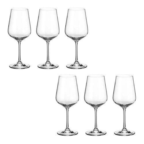 Jogo de Tacas de Vinho Tinto de Cristal Dora/Strix Eco Titanio 450 ml 49834 - Bohemia