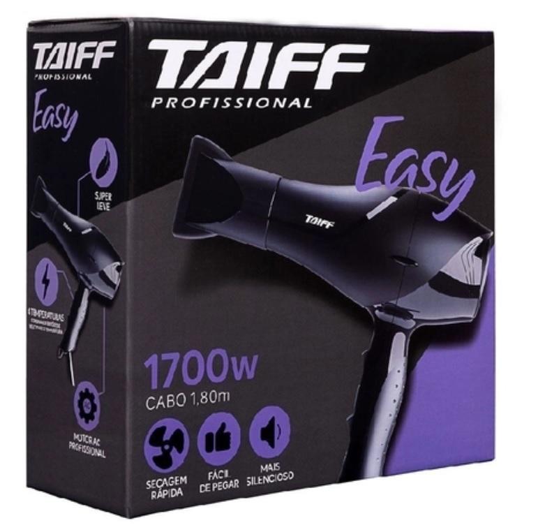 Secador de Cabelo Profissional Easy Taiff 1700W 110V Potente Silencioso