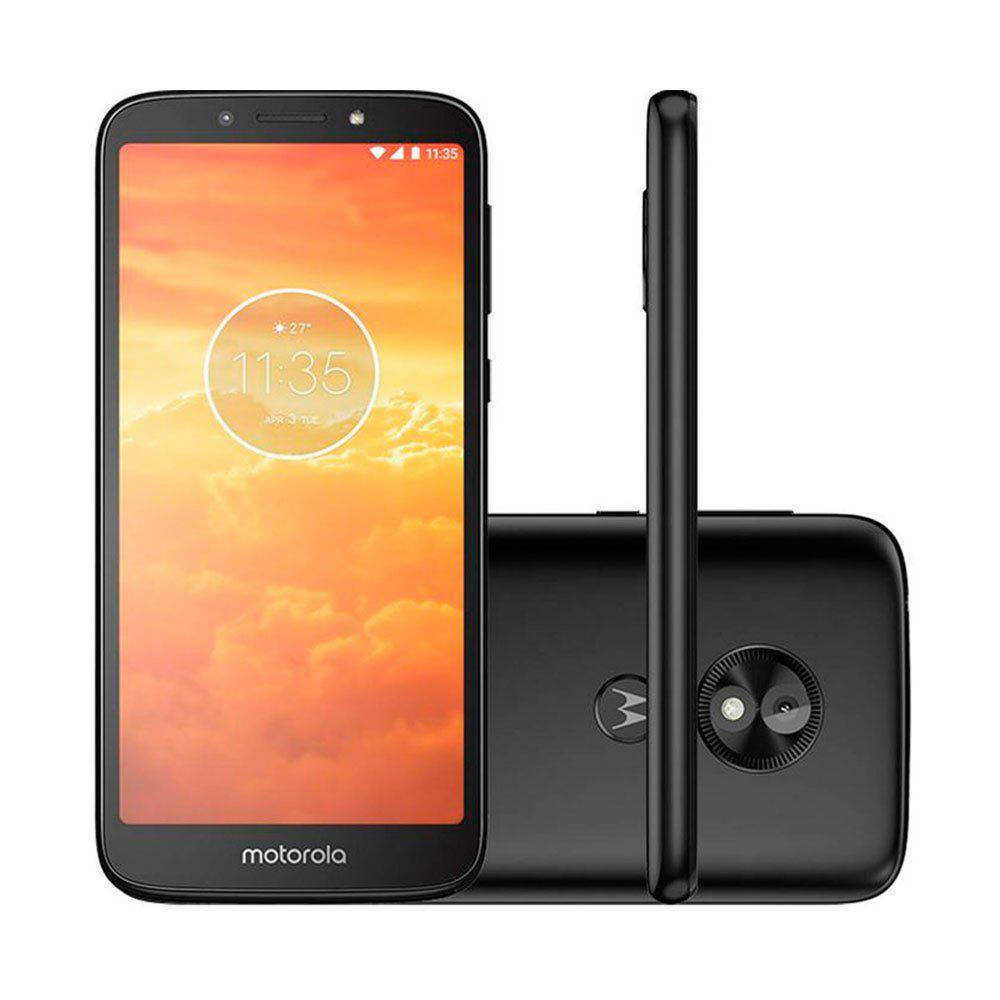 Smartphone Motorola Moto E5 Play XT1920, Android 8.1, Dual chip, Processador Quad Core 1.4 GHz, Câmera traseira 8MP e frontal de 5MP, Tela 5.34'', Memória interna 16GB expansível até 256 GB, 4G. Preto