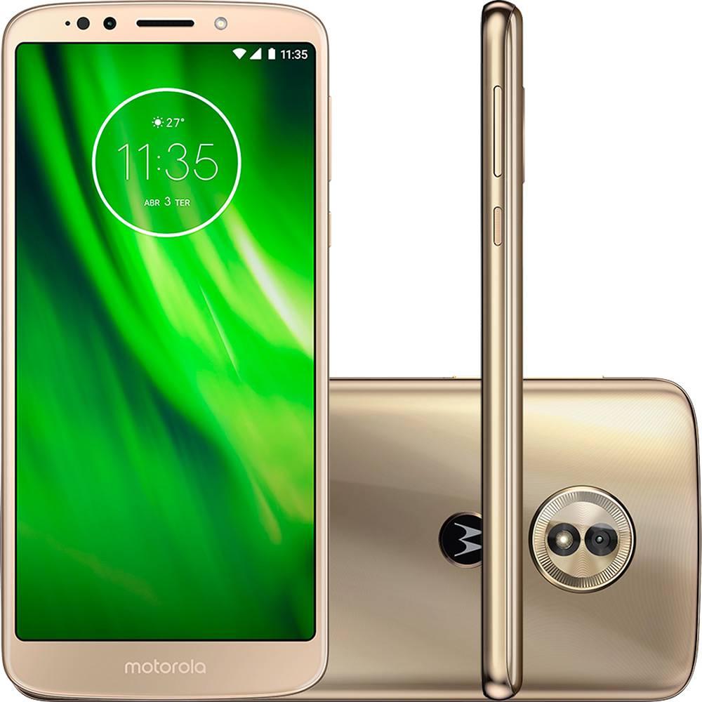 "Smartphone Motorola Moto G6 Play Dual Chip Android Oreo - 8.0 Tela 5.7"" Octa-Core 1.4 GHz 32GB 4G Câmera 13MP - Ouro"