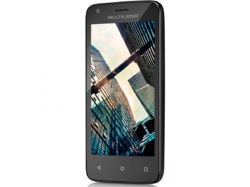 "Smartphone Multilaser MS45S Dual Chip Android 5.1 Tela 4.5"" 8GB Wi-Fi 3G Câmera 5MP - Preto"