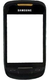 Vidro Touch S3850 Samsung Corby 2 Com Moldura Preto