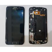Frontal Lcd Touch S6 Edge G295 G925i Azul 100% Original  Retirado