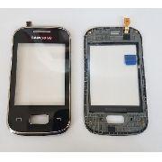 Vidro Touch Screen Samsung Pocket S5300 Com Aro Preto Original
