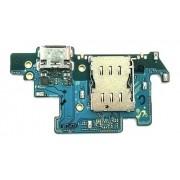 Flex Conector De Carga Slot Chip Samsung A80 Sm A805 Com Microfone