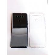 Tampa traseira Lg K51s LM K510 Bwm Com Sensor Digital + Lente Câmera + Capa Protetora Transparente