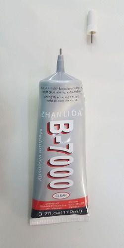 Kit 1 Cola B7000 110ml + 4 Grampos Fixação + 1 Rolo de Fita Dupla Face 2mm x 50 mts +  Kit Chaves